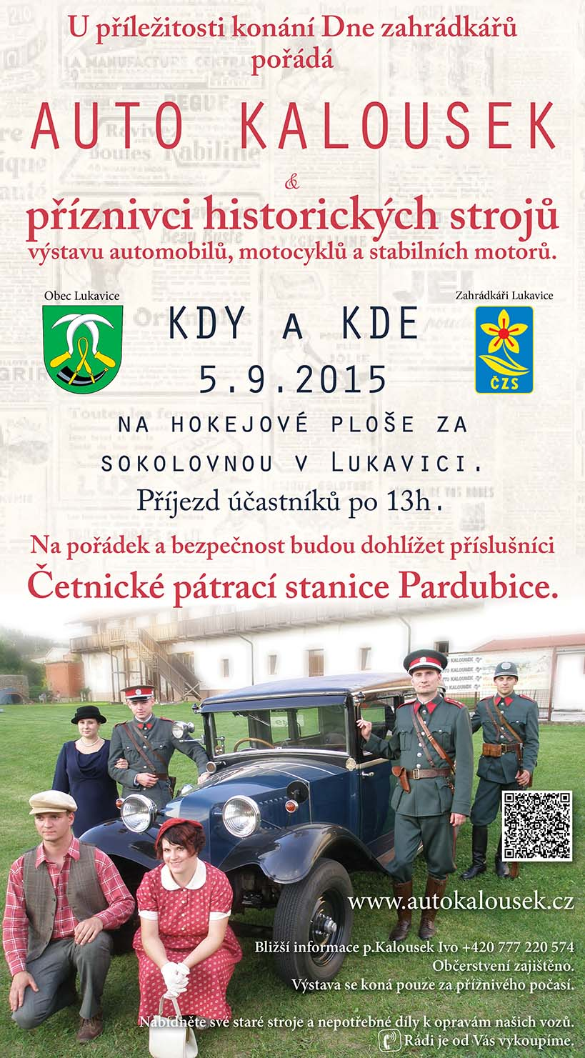 Pozvánka na výstavu historických strojů